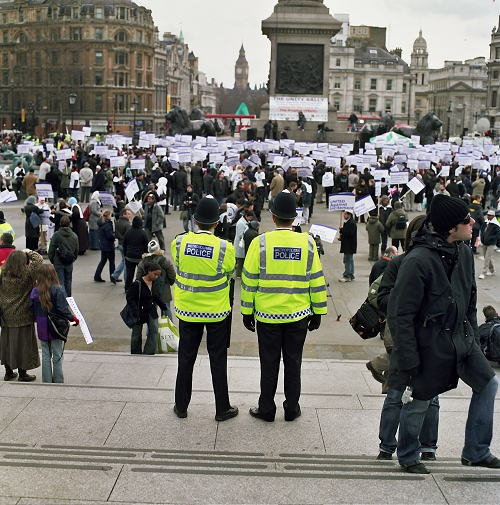trafalgar square protests